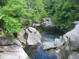 Two Waterfalls in the White Mountains of New Hampshire