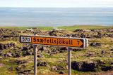 Turnoff for the mountain road to Snæfellsnesjökull