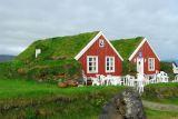 Turf roofed cafe at Arnarstapi, Snæfellsnes Peninsula