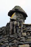 Close-up of the rock slab sculpture of Bárður Snæfellsás