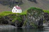 Clifftop house at Arnastapi