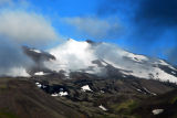 Snæfellsjökull peaking through the clouds at the end of Snæfellsnes Peninsula