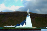 One of Iceland's many ultra-modern churches, this one in Ólafsvík