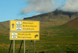 Intersection of Routes 54 and 56 on the north shore of Snæfellsnes