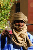 Mohamed Agousmane enjoying a Coke at Amanar