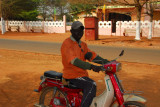 Motorbike taxi, Abomey, Benin