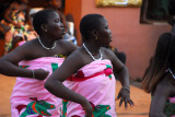 Festival dancers at the Palace of Behanzin, Abomey