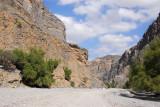 The Wadi Bani Awf road leads to a crossing of the Western Hajar to Al Hamra