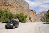 Range Rover in Wadi Bani Awf, Oman