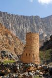 Ruins of a watch tower, Wadi Bani Awf