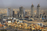 Knowledge Village with the Al Kazim Twin Towers under construction