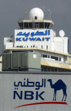 NBK (National Bank of Kuwait) ad on a jetway at Kuwait International Airport (KWI)
