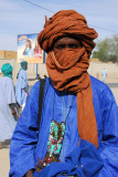 Tuareg man with neck purse