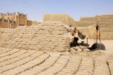 Mud bricks drying in the sun, Timbuktu