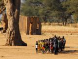 Assembly of school kids, Mali