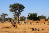 Village school east of Douentza on the road to Gao