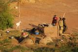 Women working in an outdoor kitchen, Labbézanga, Niger
