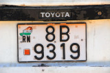 License plate - République du Niger