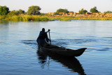 Pirogue on the Niger River, Ayorou
