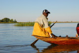 One of the paddlemen for our pirogue trip from Ayorou