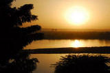 Sunset over the Niger River from the Hôtel Le Sahel, Niamey