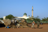 Squatter huts outside the Grand Mosque, Niamey