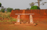 Part of the 4km perimeter wall surrounding the Royal Palace of Abomey, Benin