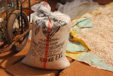 Sack of grain imported from nearby Nigeria