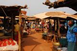 Stalls in the Abomey market, Benin