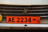 Benin license plate