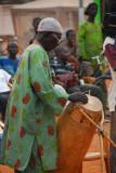African drummer, Abomey, Benin