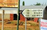 Turnoff for Abomey and Lokossa, Benin