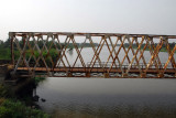 Bridge across the mouth of the Kouffo (or Mono) River, Benin