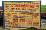 Table of official fares for tourist visits to Ganvié