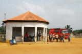 Lakeside depot for tourist boats to Ganvié