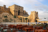 Terrace at the base of the Citadel of Aleppo