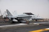 F/A-18 Hornet of strike fighter squardon VFA-81 on the USS Nimitz