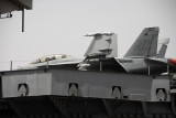 F-18 on the deck of the Nimitz