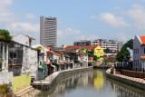 River Sungai Melaka from bridge at Town Square