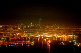 Dubai Creek at night with Sheikh Zayed Road in the distance