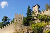 City wall and Castello della Guaita, one of San Marino's 3 towers