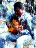 playing guitar 8x10