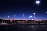 Sunset at casino parking lot on a slow night