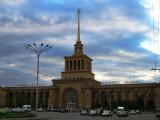 Stalinist train station