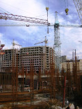 New business district under construction in downtown Yerevan