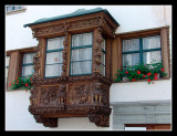 Ornate oriel window, St. Gallen