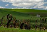 Wheel Fence Landscape
