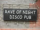 Rave of night disco pub
