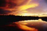 Sunset over Damuan River in Bengkurong, Brunei Darussalam