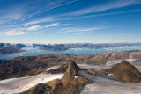 Helicopter flight to the Mitivagkat Glacier/East Greenland